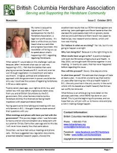BCHA newsletter image